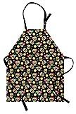 ABAKUHAUS Teschio di Zucchero Grembuile da Cucina, Daya dei Morti, Impermeabile Lavabile a Lavatrice Stampa Digitale, Multicolore