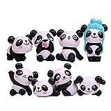 Winkey Funny Cartoon Tiere Panda Kühlschrank Magnet Aufkleber Kühlschrank Geschenk Home Decor, Plastik, 8pcs Panda, 2.8-4.3cm