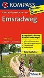 Emsradweg: Fahrrad-Tourenkarte. GPS-genau. 1:50000.: Fietsroutekaart 1:50 000 (KOMPASS-Fahrrad-Tourenkarten, Band 7014)