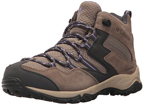 Columbia Women's Maiden Peak Waterproof Mid Calf Boot, Wet Sand, Purple Aster, 6.5 Regular US