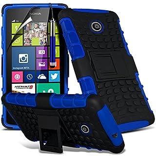 i-Tronixs (blau) Das <b>Nokia Lumia 530</b> hülle Hochwertige Starke und haltbare Survivor Hard robuste Stoßfest Heavy Duty bei zurück Stand Skin Case Cover& Screen Protector