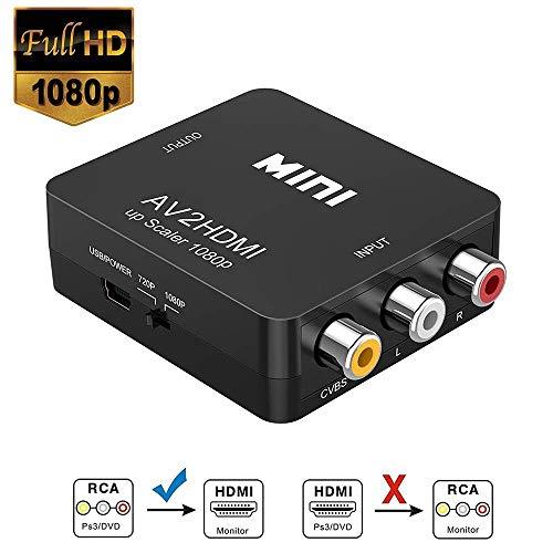 RCA HDMI, Neefeaer 1080P Mini RCA Composite CVBS AV