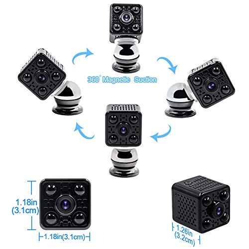 Mini Camera Spia LXMIMI Telecamera Nascosta Telecamera 1080P Wifi Telecamera Spia Videocamera 140 ° Grandangolare Nascosta Microcamera con Visione Notturna e Rilevamento del Movimento - 5