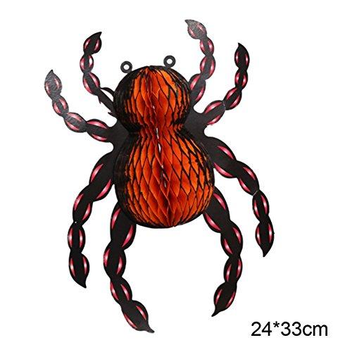 aper Lanterns Ghost Spider Anhänger Hat Aufhängen Dekoration Halloween-Laterne Garten Garden Party Geschenkset Zubehör für Kinder ()