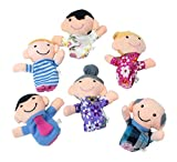 FutureKart™ Family Finger Puppets - People Includes Mom, Dad, Grandpa, Grandma, Brother, Sister(Set of 6)