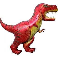 Dinosaurio Tyrannosaurus Rex gigante globo de papel de aluminio (vendido desinflado)