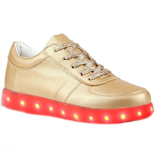 kleines Kinder Farbwechsel Leuchtend Sneaker Handtuch Led present Mädchen Jungen Schuhe Turnschuhe C36 Sportsschu junglest® Fluorescence dt11wqR