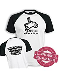 Planète motard - Tee shirt moto Triumph - T shirt motard - T shirt moto - T shirt homme