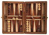 Indiaethnicity Juego de backgammon de madera hecho a mano Casete clásico de haya Juegos de mesa Cyber ??lunes Regalos de Navidad