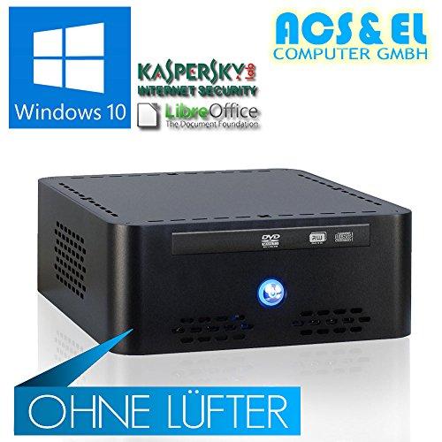 Xercon Mini ITX * LÜFTERLOS * PC System Intel J3455 4x2.30GHz, Quadcore | 8GB DDR3-1600 | 240GB ultraschnelle SSD Disk | 8x Slim DVD-Brenner | Intel HD Graphics 400 | HDMI Ausgang | Netzteil, extern | 5.1 Soundchip | Libre Office (Textverarbeitung, Tabellen) | Windows 10 (OEM) 64Bit [98716_W10]