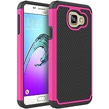 Coque Galaxy A3 2016, Pasonomi® Samsung Galaxy A3 2016 Coque Housse Étui Hybride Armour Couche 2 en TPU + PC Anti-Chocs dur Coque pour Samsung Galaxy A3 2016, Rose