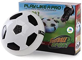 Funny Teddy Kid's Non-toxic Plastic Air Floating Football with LED Lights (White and Black, rruyv5rce4sxwe4)