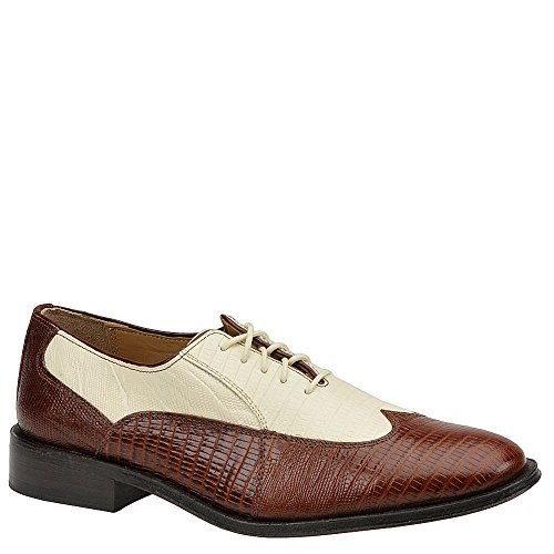 Giorgio Brutini Men's Melby Oxford, Mid Brown/ Bone, 13 M US (Bone Oxford)