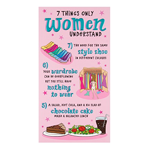 Hallmark Funny Geburtstagskarte 7Dinge Frauen verstehen–Medium