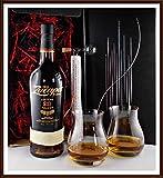 Geschenk Ron Zacapa Centenario Systema Solera 23 Rum + Flaschenportionierer + 2 Original Glencairn Canadian Gläser kostenloser Versand