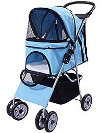 Cochecito Silla de viaje para Mascotas Plegable Pet transporte Malla Cremallera