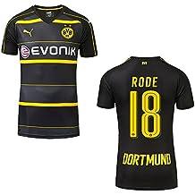 Puma Borussia Dortmund Away–Camiseta infantil 2016/2017–Rode 18, 128