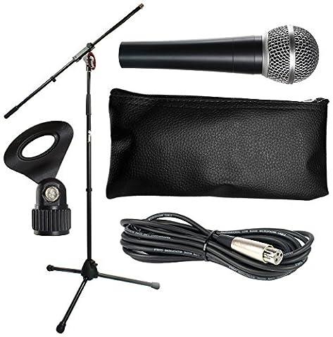 Tiger MCA10-BK Ensemble de Microphone - Noir
