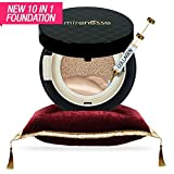 WORLD LAUNCH:Mirenesse Cosmetics 10 Collagen Cushion Foundation Compact Airbrush Liquid Powder SPF25 PA++ 15g/0.52oz - Shade 23. Mocha - AUTHENTIC