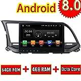 ROADYAKO 64GB Android 8.0 Autoradio für Hyundai Elantra 2015 Stereo 2016 mit Spiegeln Link RDS FM GPS AUX von GPS Navi 3G WiFi