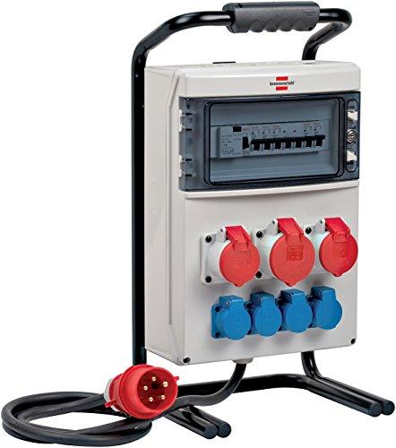 Brennenstuhl 1154900020 Tragbarer Stromverteiler, Hellgrau/Schwarz