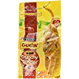 Go Cat Crunchy and Tender Adults Dry Cat Food with Beef Chicken and Added Vegetables, 1.5kg