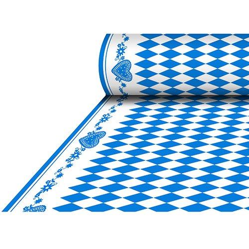 25 m x 1,18 m Tischdecke, stoffähnlich, Airlaid 'Bayrisch Blau' lackiert Tischdecke Raute...