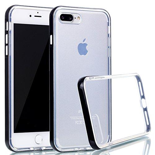 Voguecase® für Apple iPhone 7 4.7 hülle, Schutzhülle / Case / Cover / Hülle / TPU Gel Skin (macaron 03) + Gratis Universal Eingabestift Transparente Grenze/Schwarz