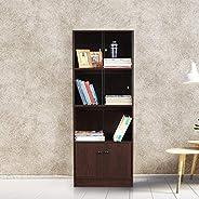HomeTown Lara Engineered Wood Book Shelf in Wenge Colour