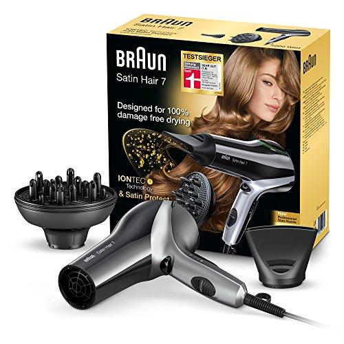 Braun Satin Hair 7 Haartrockner HD730, mit IonTec, Stylingdüse und Diffusor