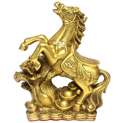 chinois FENGSHUI Stepping Cheval fait main Figurines de collection Décoration intérieure Bs070