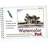 Watercolor Pad, Aquarellblock - 190 g/qm - 24 Blatt mit Spirale - DIN A4