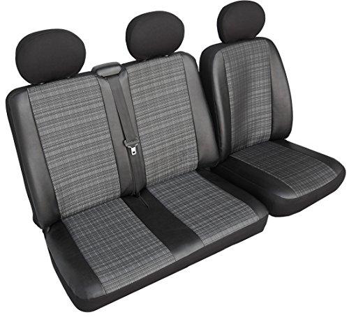 Iveco Daily IV BUS 1+2 Vorne Grau Universal Autositzbezüge Sitzbezug Transporter