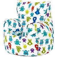 Preisvergleich für Ready Steady Bed Monsters Aliens Print Kinder fertig gefüllt Fun Sitzsack Sitzkissen Kinder Möbel