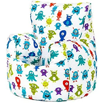 Monsters Aliens Print Childrens Ready Filled Fun Bean Bag Chair Seat Kids Toddler Furniture