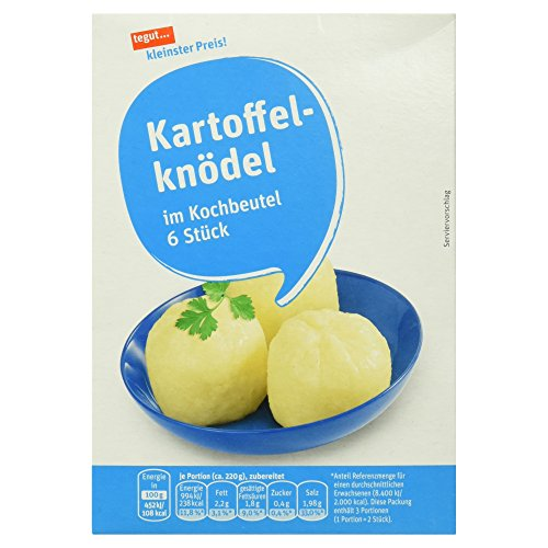 Tegut kleinster Preis Kartoffelknödel im Kochbeutel, 6 Stück, 200 g Test