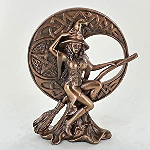 Witch with Celtic Moon, Bronze