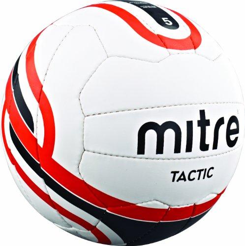 Mitre Tactic FuÃ?ball, WeiÃ?/Schwarz/Rot, 4