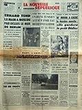 nouvelle republique la no 6610 du 11 06 1966 erhard tend la main a moscou par dessus le mur de berlin les conflits sociaux dany l amie de jacques mizes observe la loi du silence devant les jures parisiens de gaulle au grand trianon sur une enq