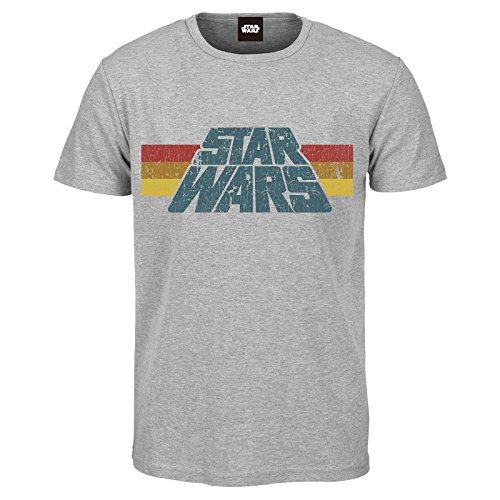 Star wars vintage 77 t-shirt grigio sport s