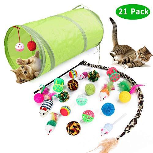 Giocattoli per Gatti, 21 Pezzi Giocattoli Interattivi per i Gattini di Gatto per Gatti e Gatti
