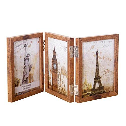 Foto Rahmen, ZZm Holz Creative Klappbarer Rahmen 12* 17* 1,5cm