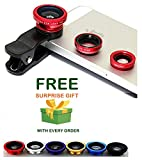 #10: Universal Mobile Camera metal lens 2 in1 kitClip-On Fisheye+Micro Lens for Xiaomi Mi, Apple, Samsung, Sony, Lenovo, Oppo, Vivo Smartphones and for All Android phone and (Get a free surprised assured gift with every purchase of this product from ZED BONE)