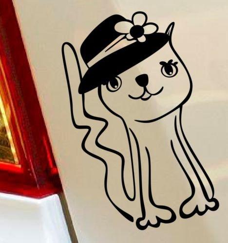 gatto-kitty-cappello-animali-divertenti-hobby-drift-funny-love-cuore-per-auto-finestra-decalcomania-