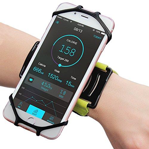 Matone Brazalete Deportivo Universal para iPhone 7, 7 Plus, 6S, Samsung S8, S8 Plus, S7 Edge, Galaxy S5, 180°Giratorio Ajustable, Ideal para para Correr Running Gimnasio Curso (Verde)