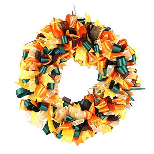 BESTOYARD Band Kranz Farbe Dekoration Mesh Kranz Kranz Kopfstück für Weihnachten Thema Party (Bowknot Shape)