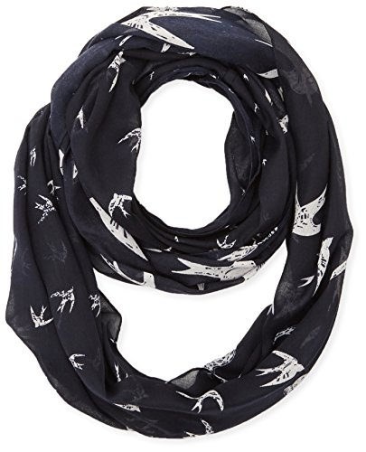 tom-tailor-womens-loop-with-bird-print-scarf-blue-real-navy-blue-one-size-manufacturer-size-onesize