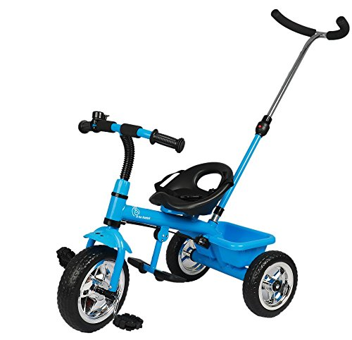 R for Rabbit Tiny Toes Grand - The Smart Plug and Play Tricycle (Blue)