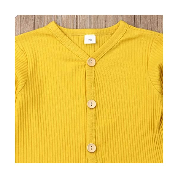 Conjunto de pijama de manga larga con botones y pantalones largos, de algodón de dos piezas 4