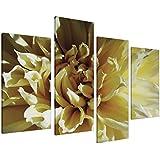 Cuadros en Lienzo Grande Flor Crema y amarillo Set Imágenes XL 4104